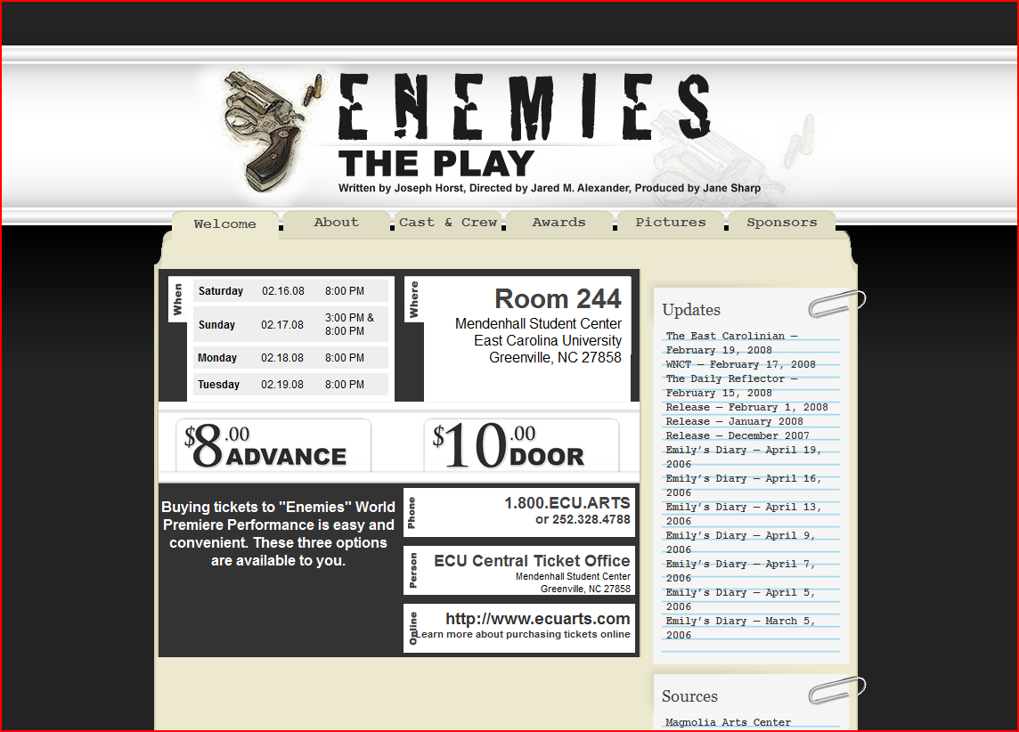 Enemies: The Play!
