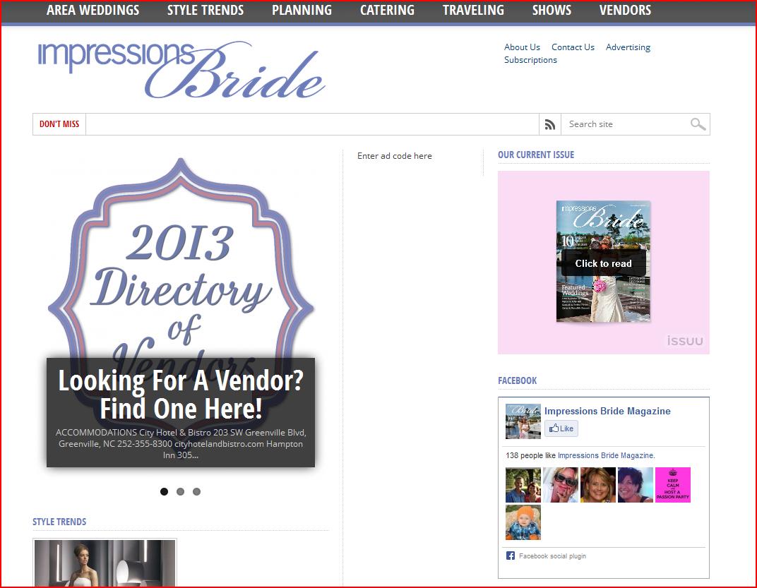 Impressions Bridal Magazine